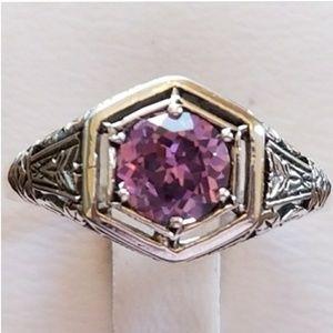 Jewelry - 1ct Alexandrite Filigree Ring Size 7